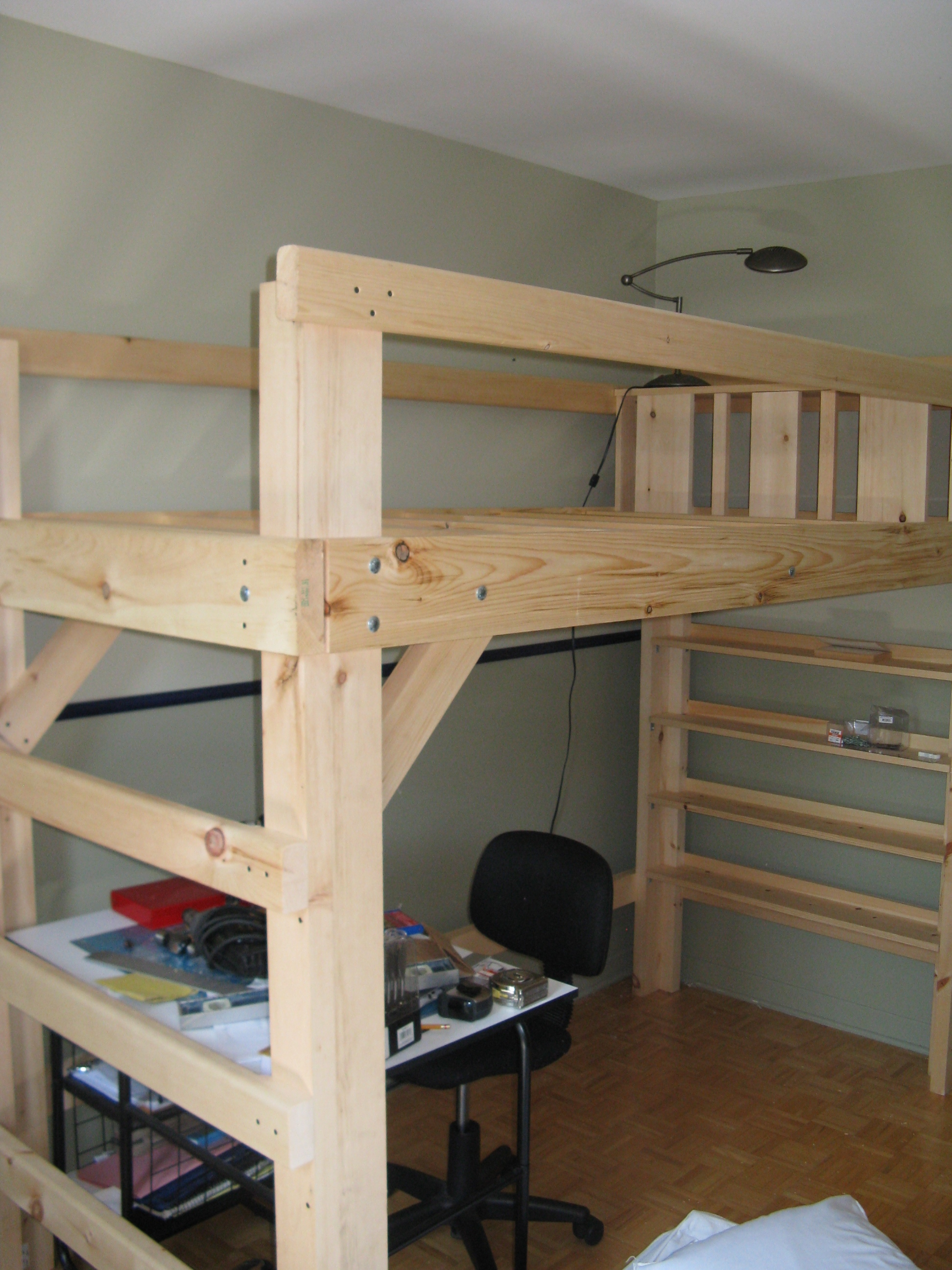 College Bed Loft Twin Xl 9 Steps With Pictures Instructables