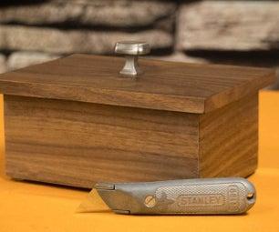 Walnut Box Made With Utility Knife!