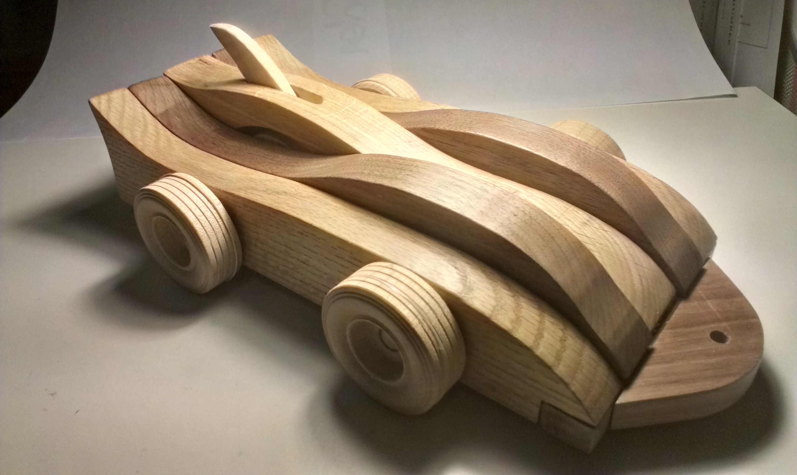 Mechanical Wood Toy Car