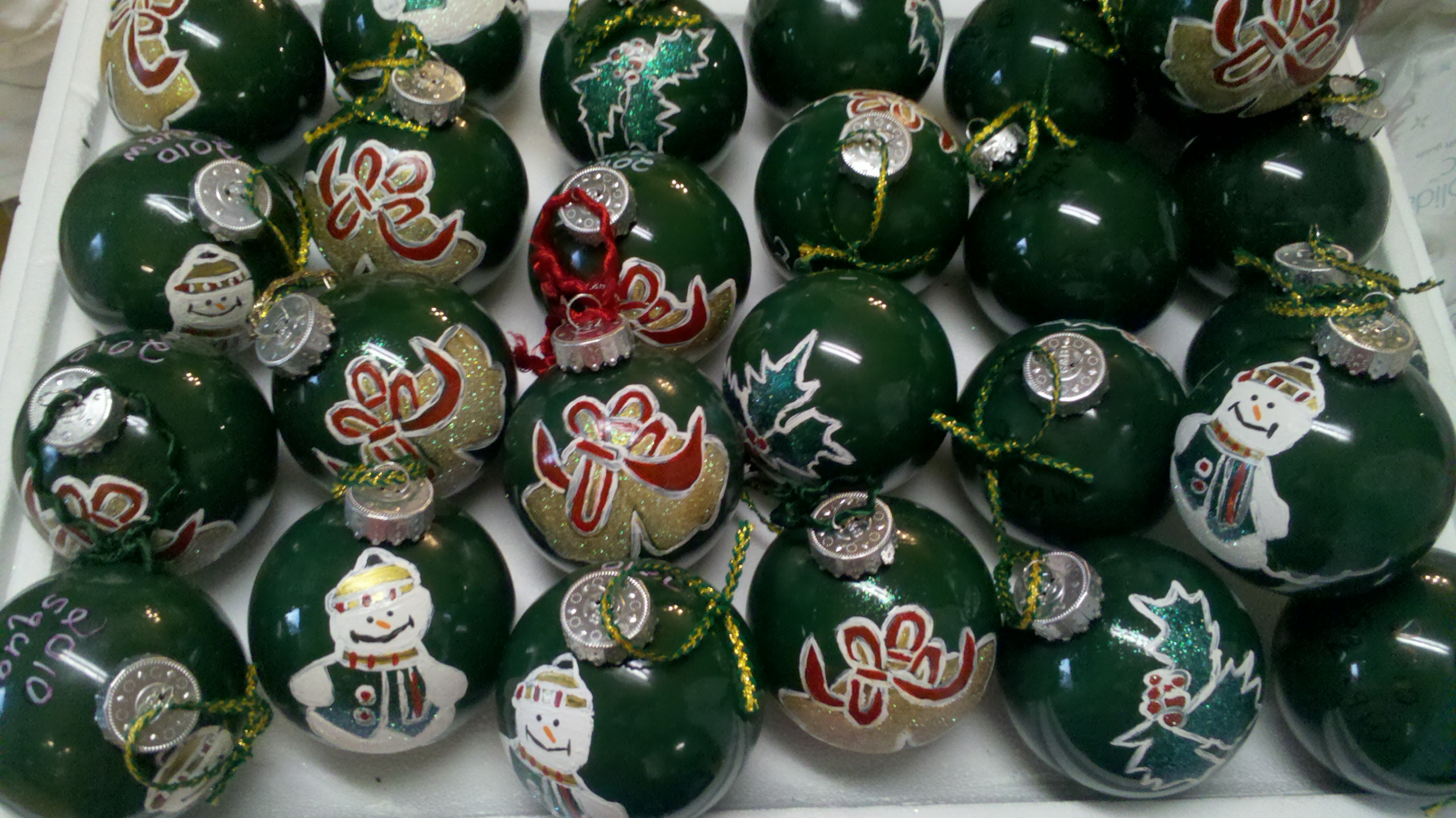Homemade Glass Ball Ornaments