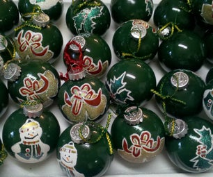 Homemade Glass Ball Ornaments
