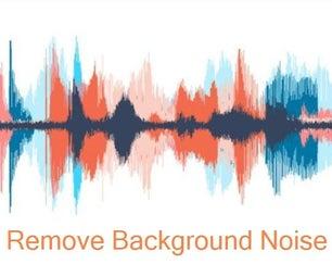 如何从视频中删除背景噪音?