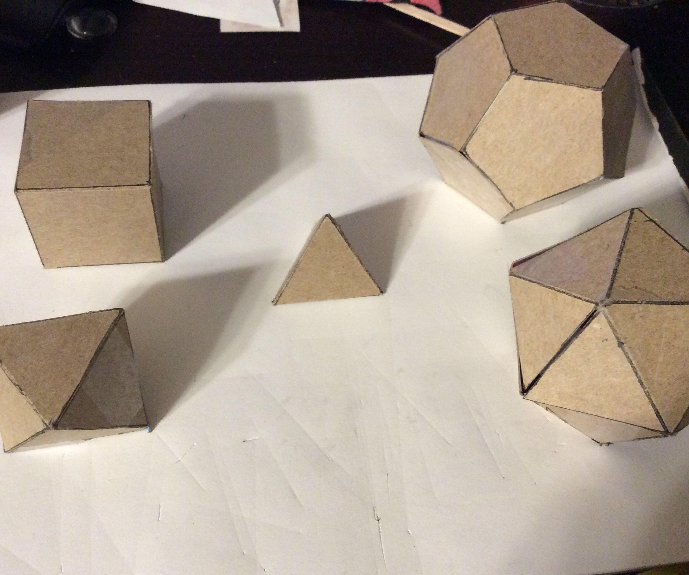 Cereal Box Platonic Solids