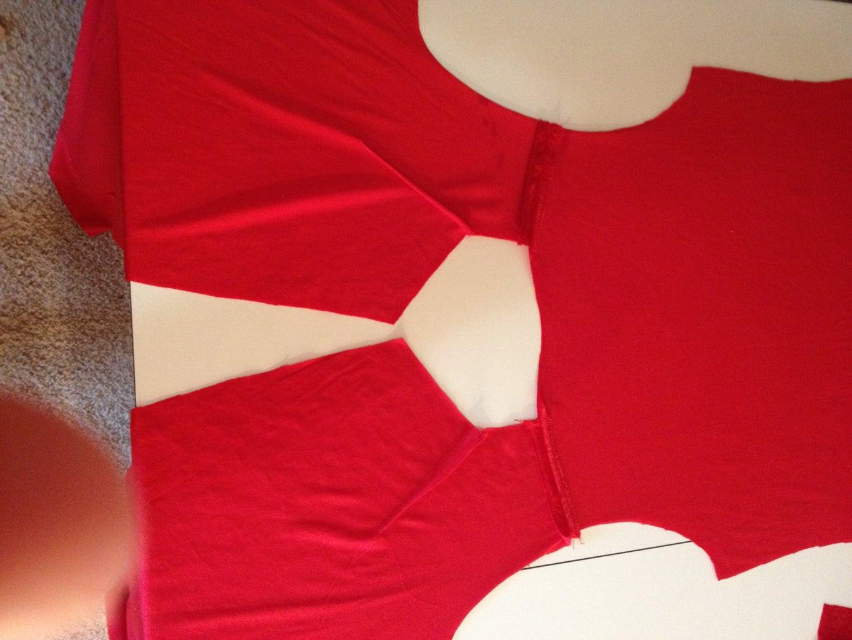 Cutting the Fabric, Beginning to Sew Garment