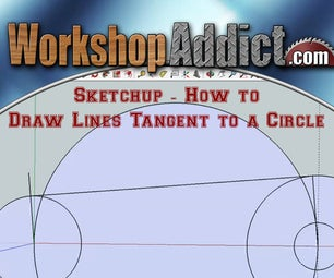 Sketchup -- How to Draw Lines Tangent to a Circle