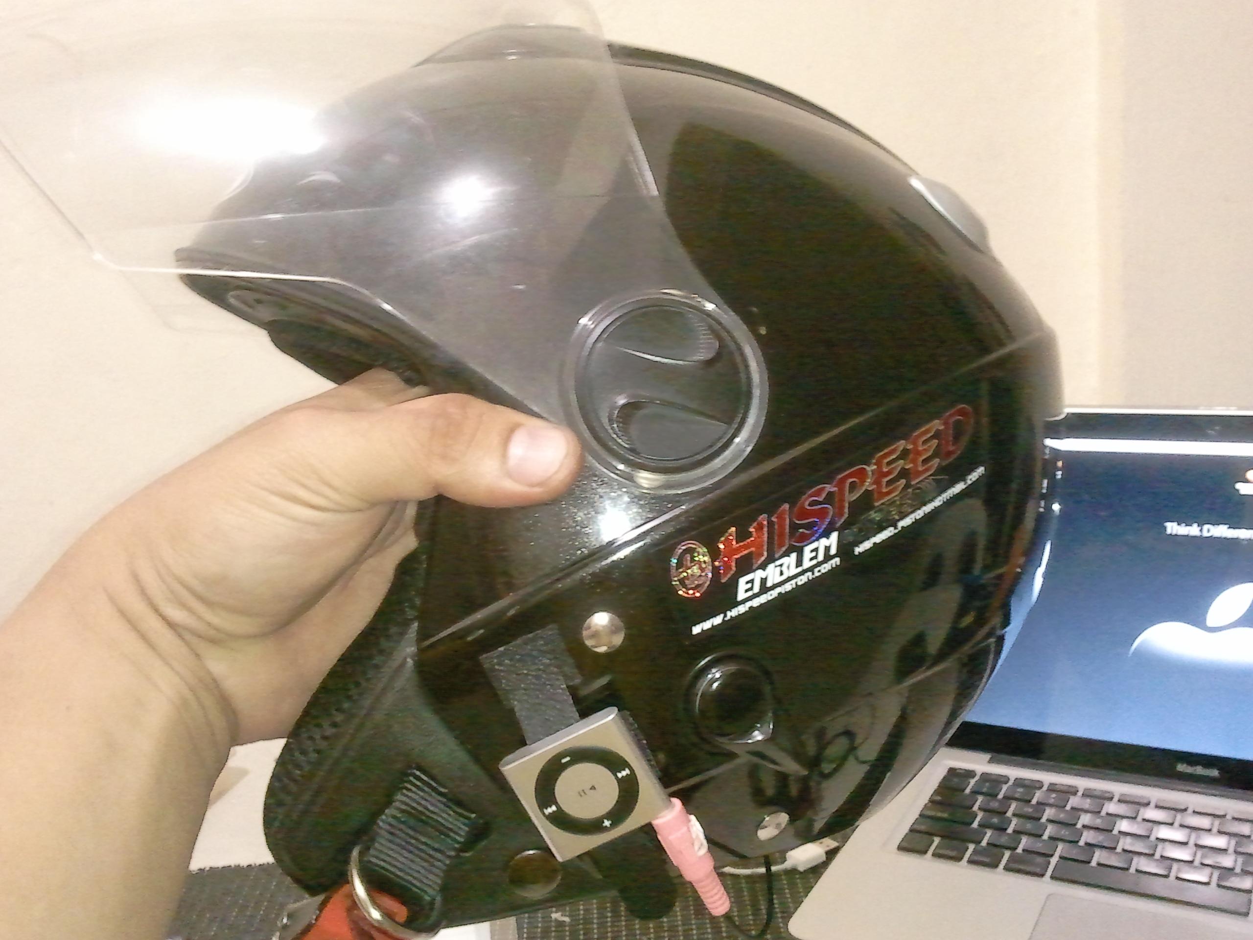 DIY Helmet Headphones (on the cheap)