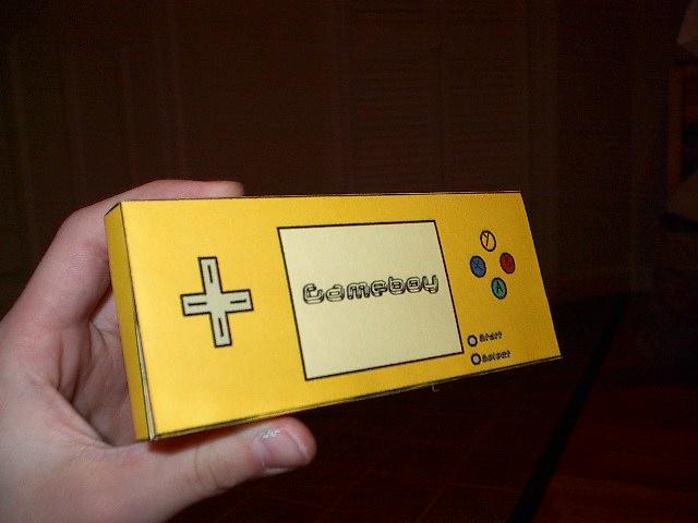 Make a Paper Gameboy