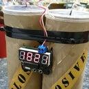 Orologio da tavolo a forma di bomba