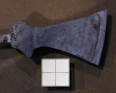 Setting the High-carbon Steel Bit Into the Axe Body