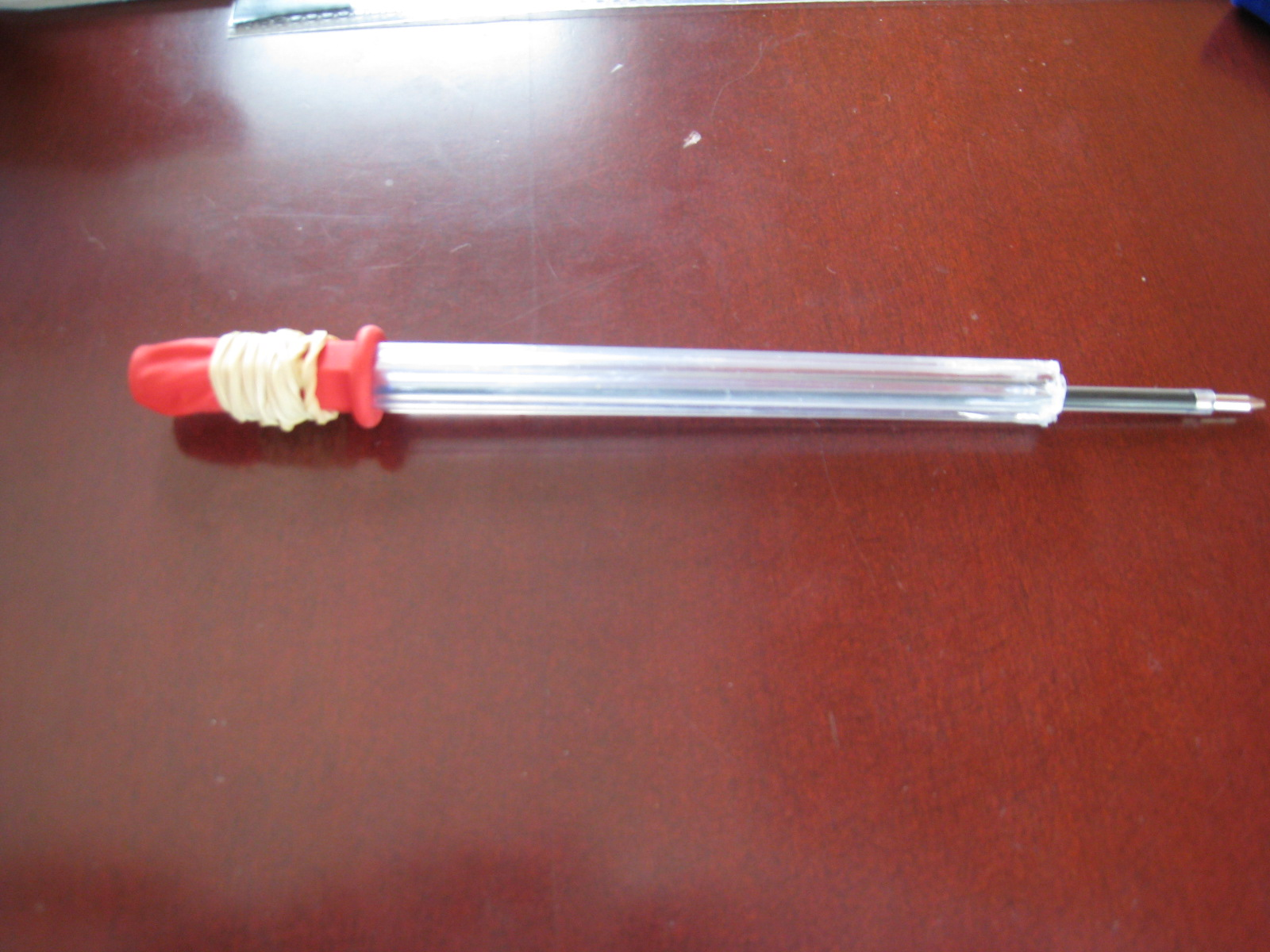 Balloon Powered Pen Gun