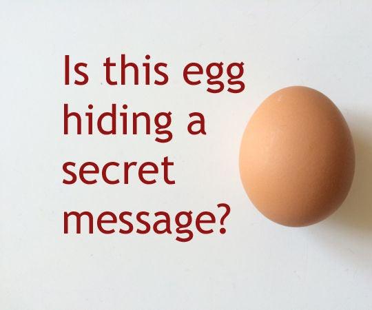 The Secret Behind the Secret Message Egg