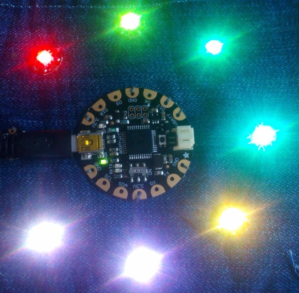 How to Use the Adafruit Flora Board - Arduino Tutorial
