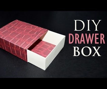 How to Make a Drawer Box - DIY Sliding Gift Box