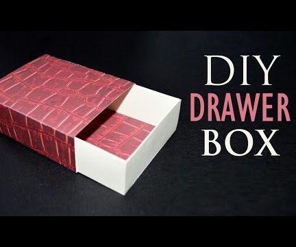 How to Make a Drawer Box - DIY Sliding Gift Box