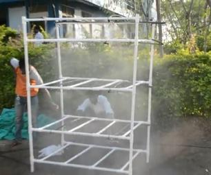 PVC Pipe Hydroponics Structure.