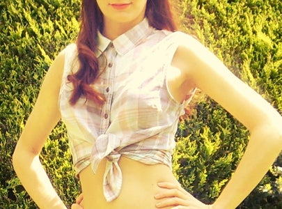 Vintage Inspired Tie Front Shirt:)
