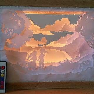 Paper Cut Shadow Box
