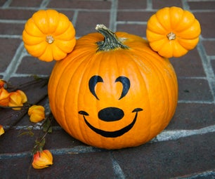 Make a Mickey Mouse Pumpkin This Halloween