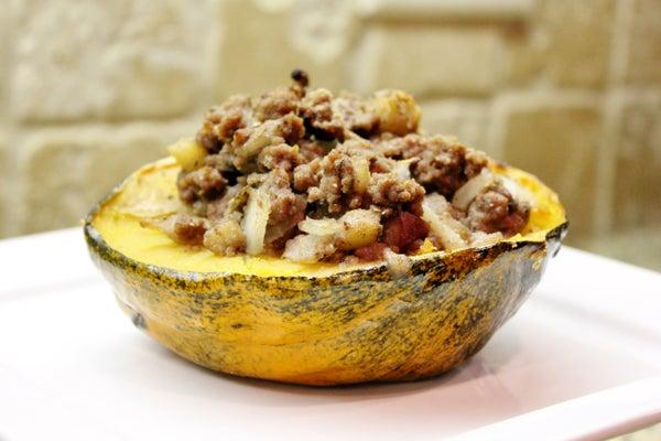 Apple Sage Stuffed Acorn Squash