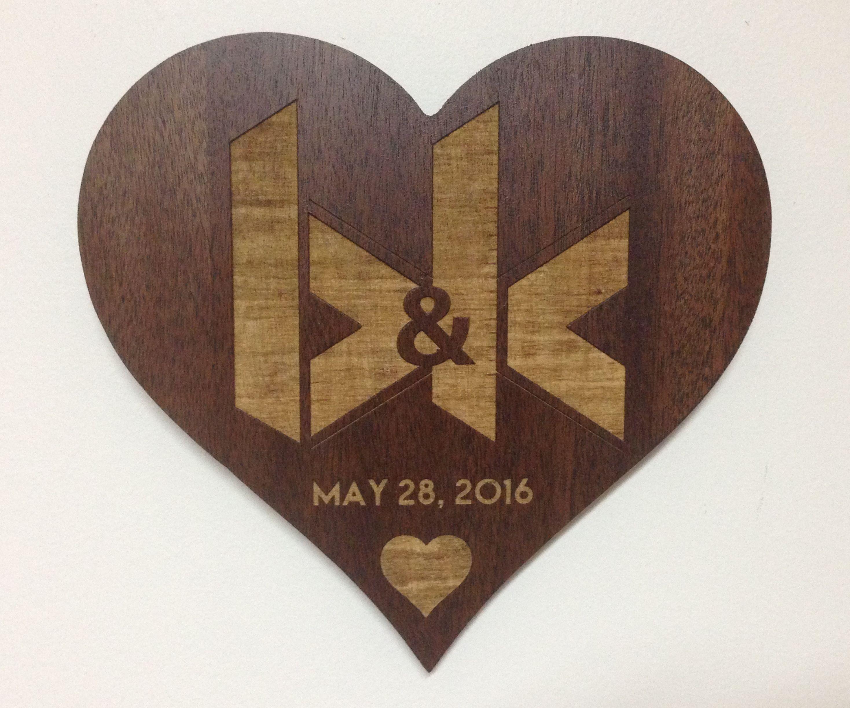 Laser Engraved Wedding Gift
