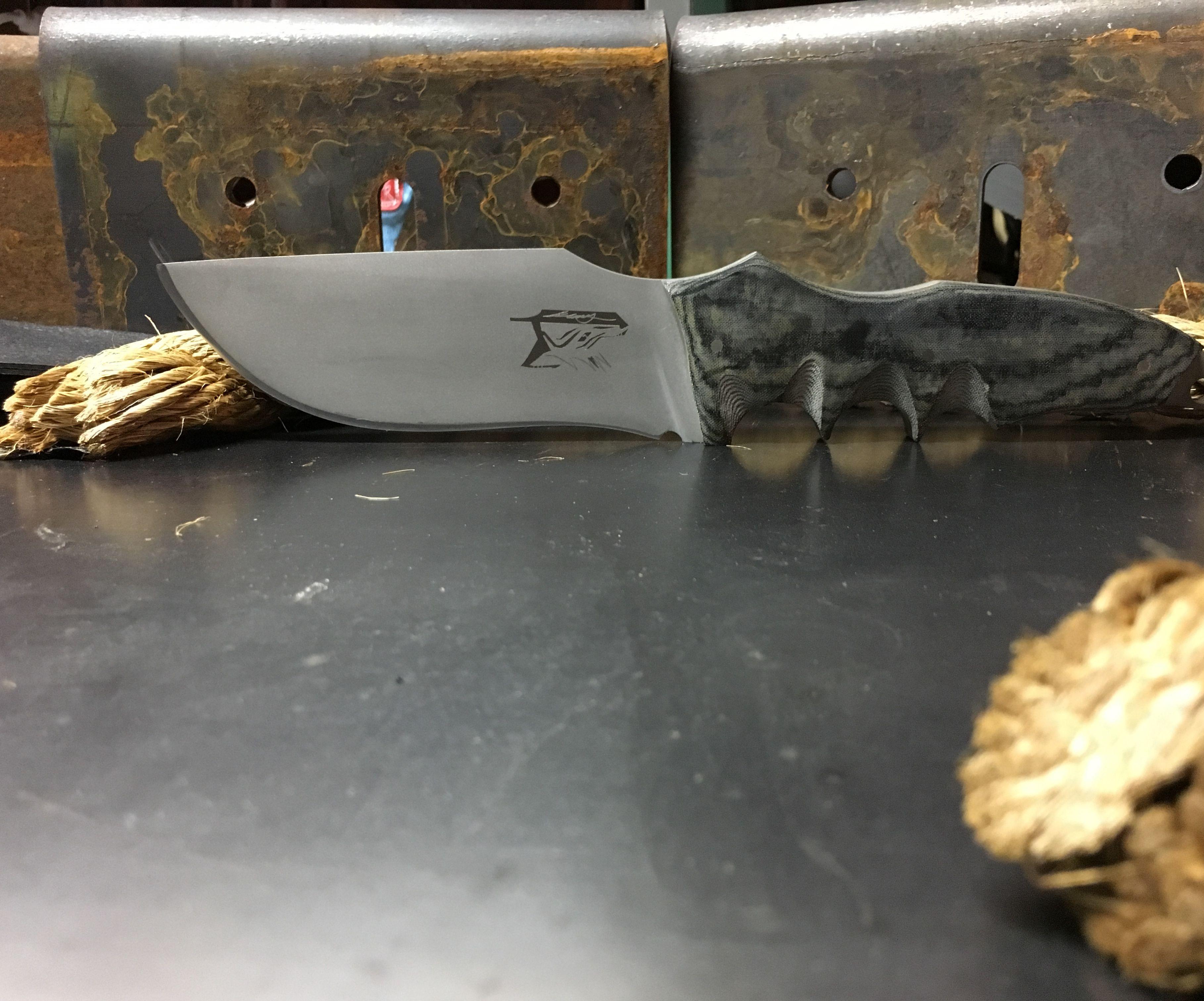 Hand made camp knife