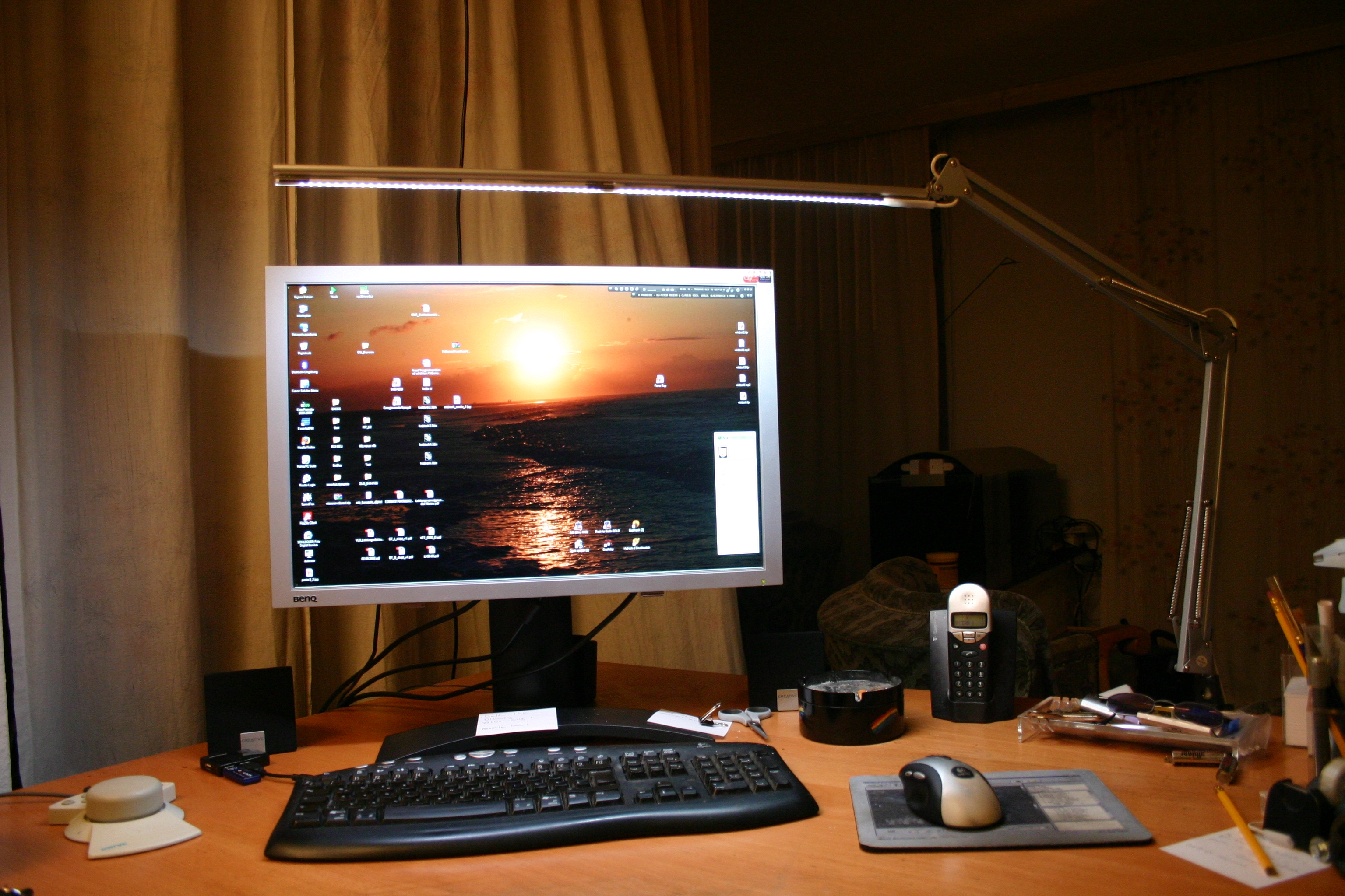 LED-desktop / workspace / keyboard lamp (IKEA Tertial hack)