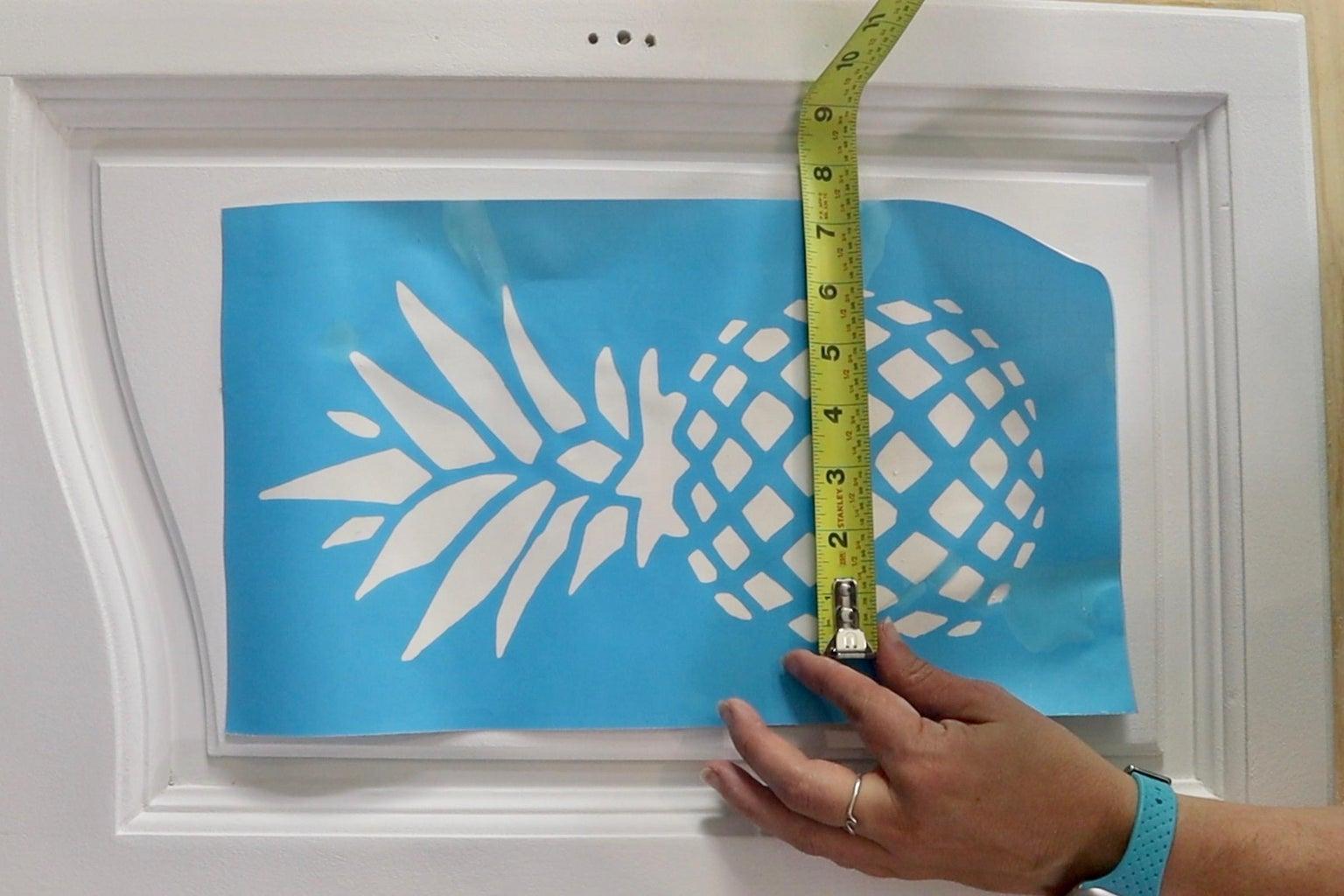 Adhere Stencil to Furniture