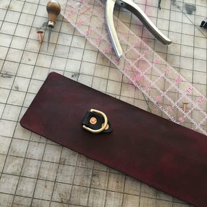 Add Dee Rings, Draw Your Stitch Line, and Punch Your Stitch Holes