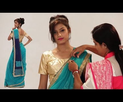 How To Wear A Saree In Bollywood Style - Party Style Saree Draping Step By Step With Thin Pleats