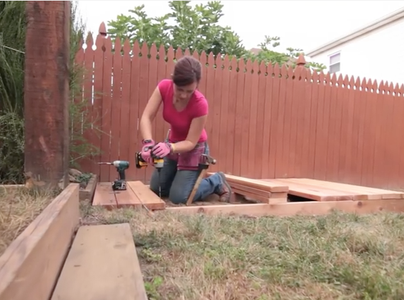 Step 3: Place a Center Joist and Deck Boards.