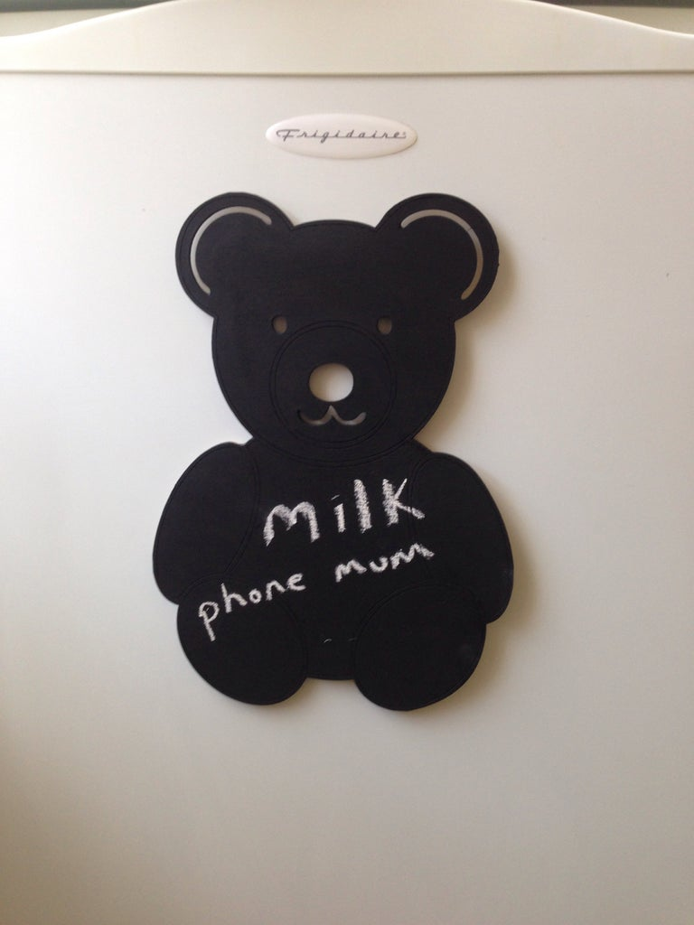 Paint Bear With Blackboard Paint and Admire Finished Product