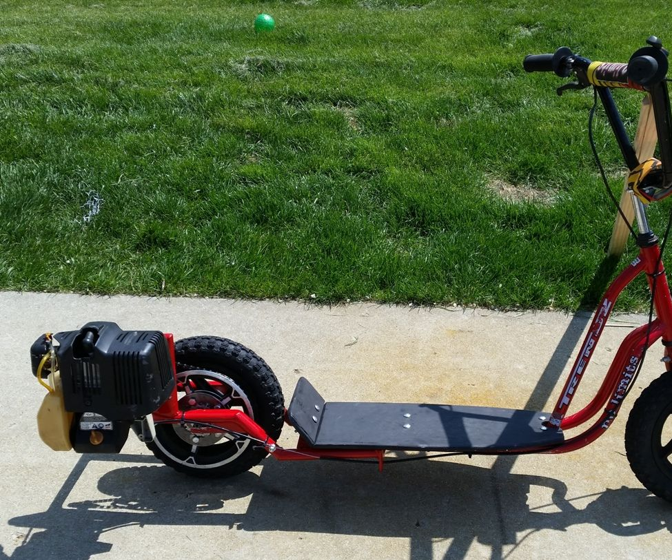 Weed Eater Powered Scooter (UPDATED! See final steps!)