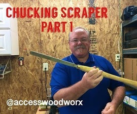 Chucking Scraper for Turning Bowls on Lathe