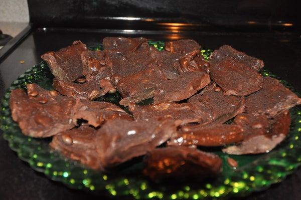 Dark Chocolate Fudge W/ Via Instant Coffee