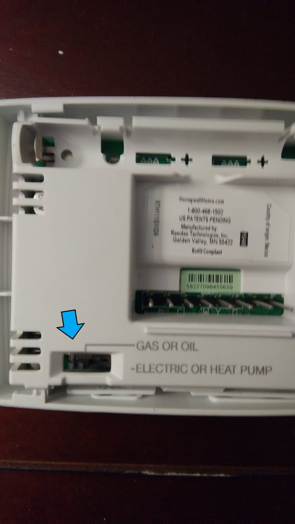 Check Gas/Oil - Electric Heat Switch