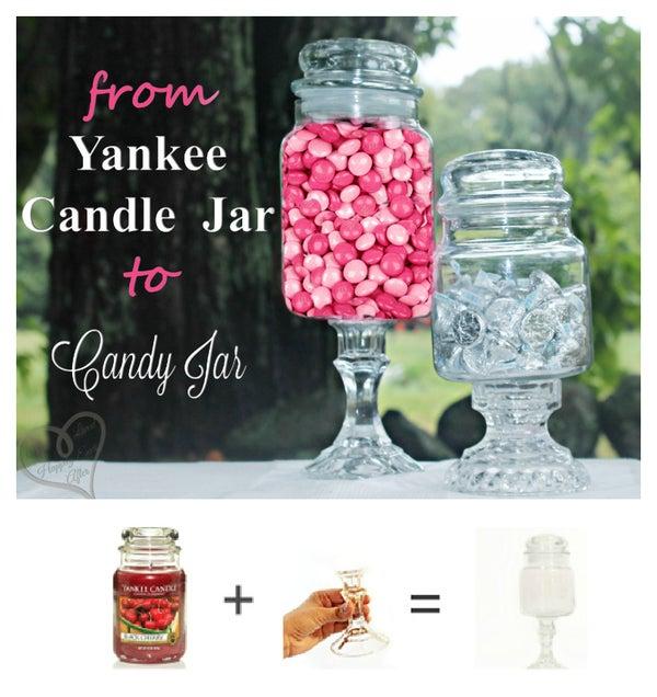 Yankee Candle Jar to Candy Jar!