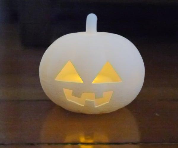 3D-printed Jack O' Lantern