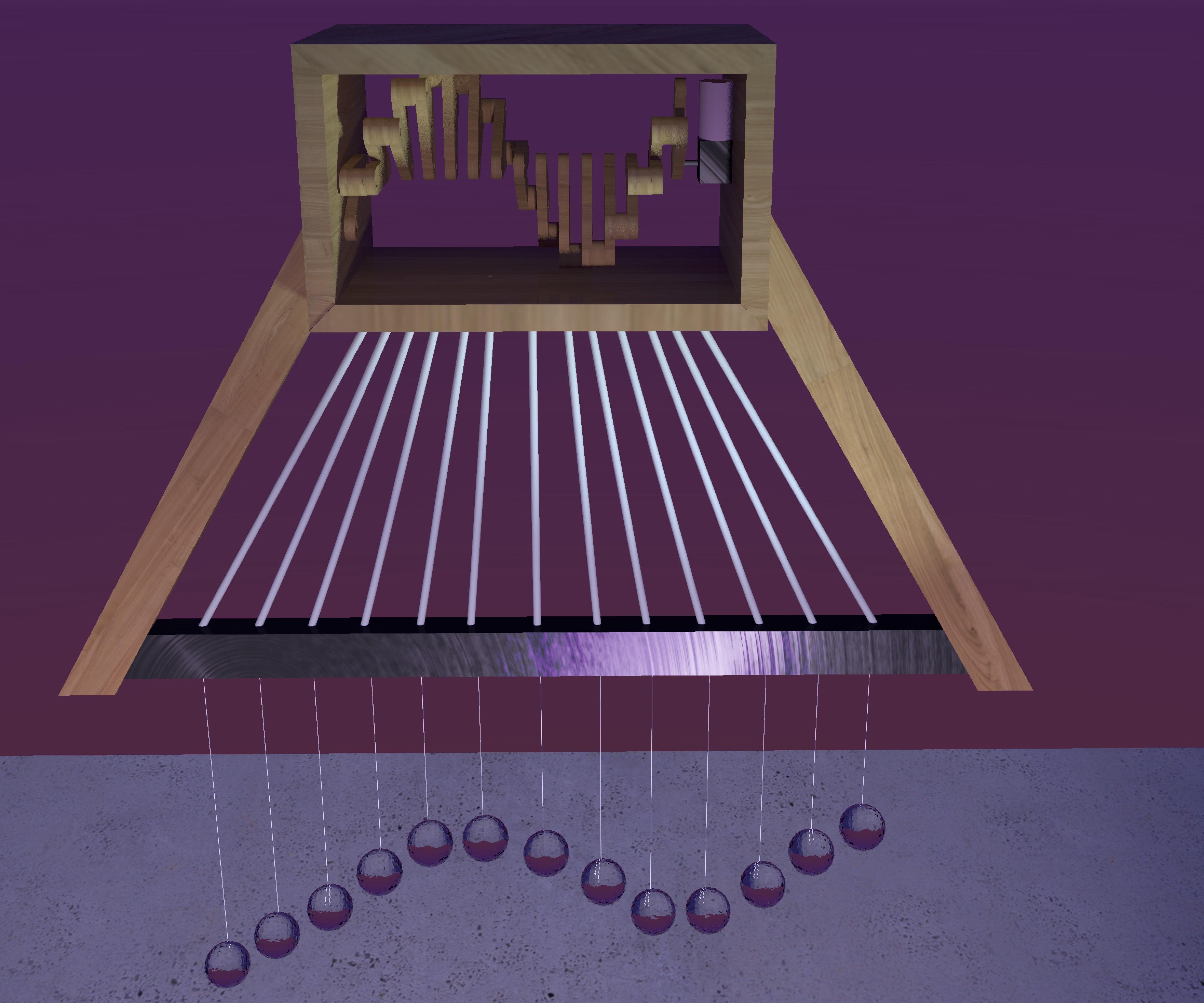 DIY Kinetic Chandelier