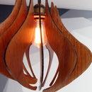 DIY Wood Pendant Light Fixture