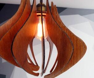 DIY木质吊灯