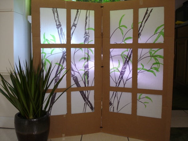 Cardboard Shoji Screen - Room Partition
