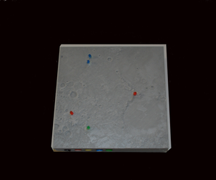 3D Print a Lighted Moon Landing Map