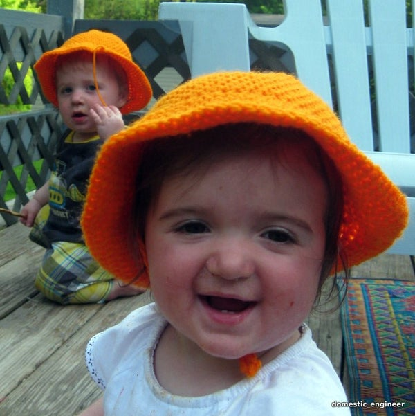 Simple Orange Sun Hat