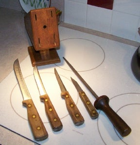 The Knives and Sharpening Steel