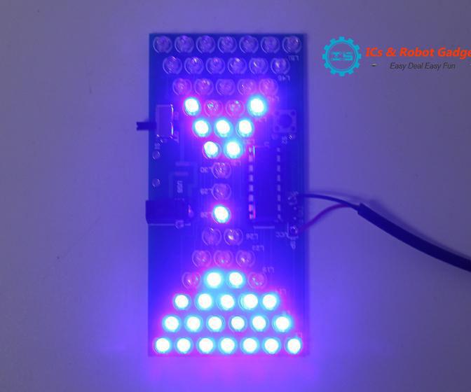 Hourglass Shape Flashing LED DIY Kits