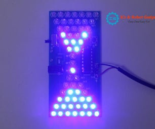 Hourglass Shape Flashing LED DIY Kits