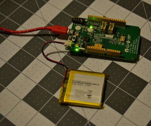 How to Charge the MediaTek LinkIt ONE Battery and Check the Battery Level