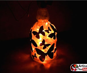 Lampshade From a Glass Bottle