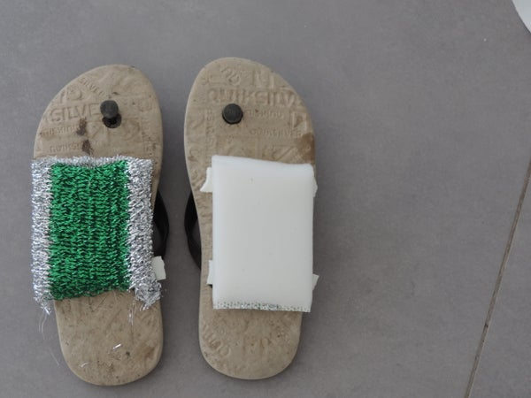 Cleaning Sandals