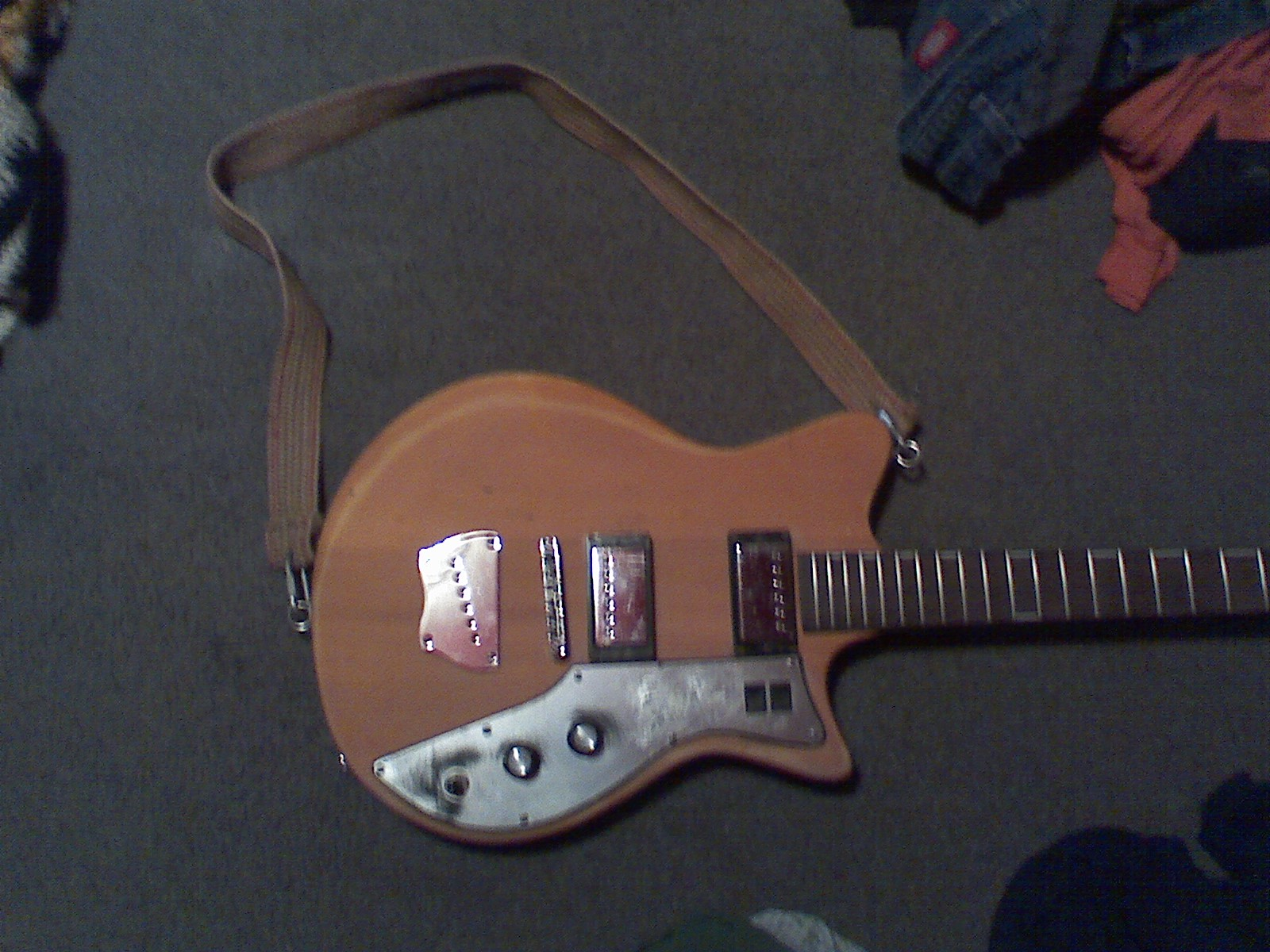 Old belt guitar strap